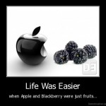 When apple and blackberry were just fruits