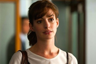 "Anne Hathaway as Emma in ""One Day"". She is extremely gorgeous and talented, yet she lacks the courage to do anything, and she believes that she doesn't deserve the best."