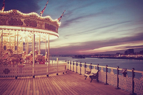 Would you rather sit on the bench, wondering what could have been, or go on the carousel ride?