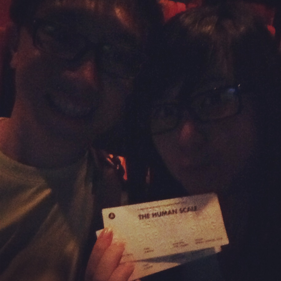 You may not be able to see us, but here's a girlfriend sacrificing for her boyfriend - at Design Film Festival Singapore 2013, about to watch a documentary about urban planning and architecture. I don't understand a thing, but I reckon it'd make a good article.
