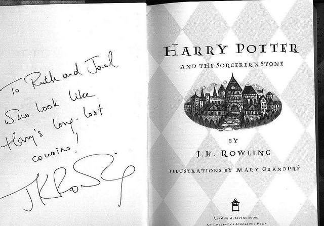 J.K. Rowling book sign