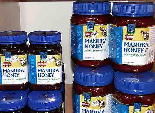 An example of Manuka honey. This is not the exact brand that we bought, but you get the idea. Photo by Keith Davenport, Creative Commons.
