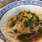 Enoki Mushrooms with Garlic and Scallion Sauce